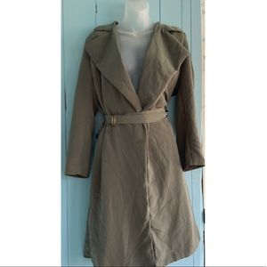 H&M Green Trench Coat